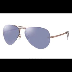 Ray-Ban RB3449 Aviator, Rose Gold, Mirror -NEW!